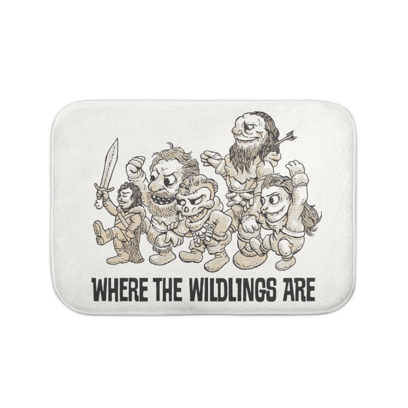 Where The Wildlings Are Home Bath Mat by Spencer Fruhling's Artist Shop