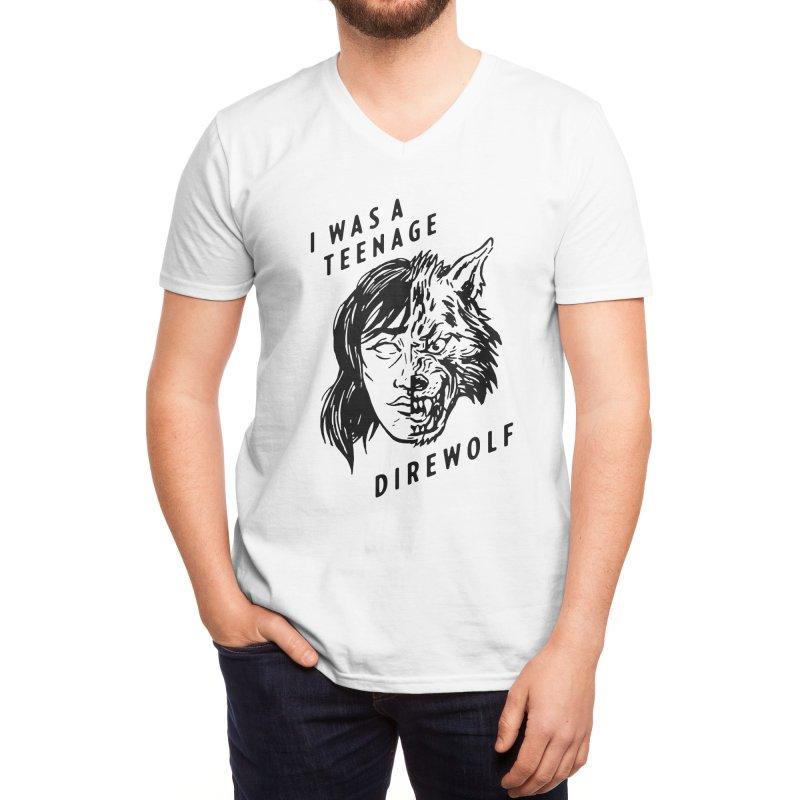 I Was A Teenage Direwolf Men's V-Neck by Spencer Fruhling's Artist Shop