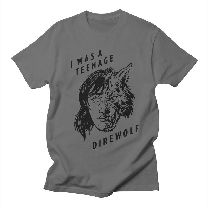 I Was A Teenage Direwolf Men's T-shirt by Spencer Fruhling's Artist Shop