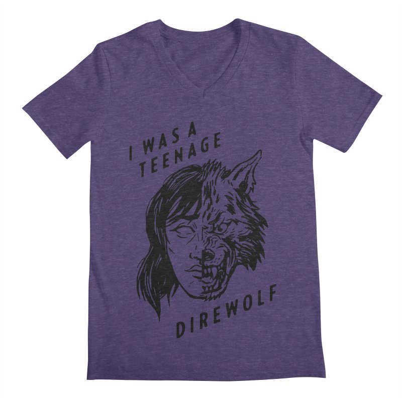 I Was A Teenage Direwolf Men's V-Neck by Spencer Fruhling's Artist Shop