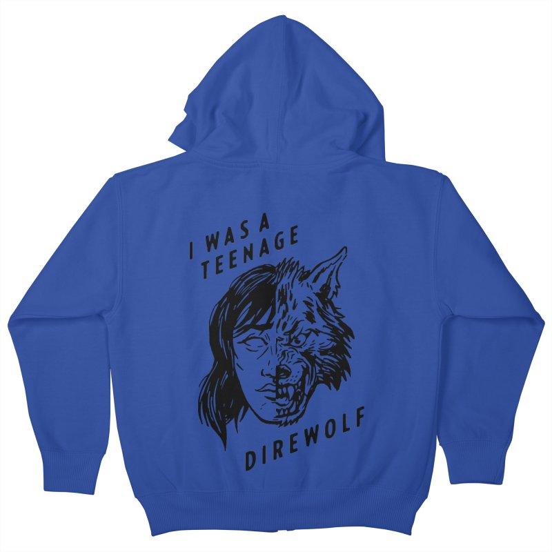 I Was A Teenage Direwolf Kids Zip-Up Hoody by Spencer Fruhling's Artist Shop