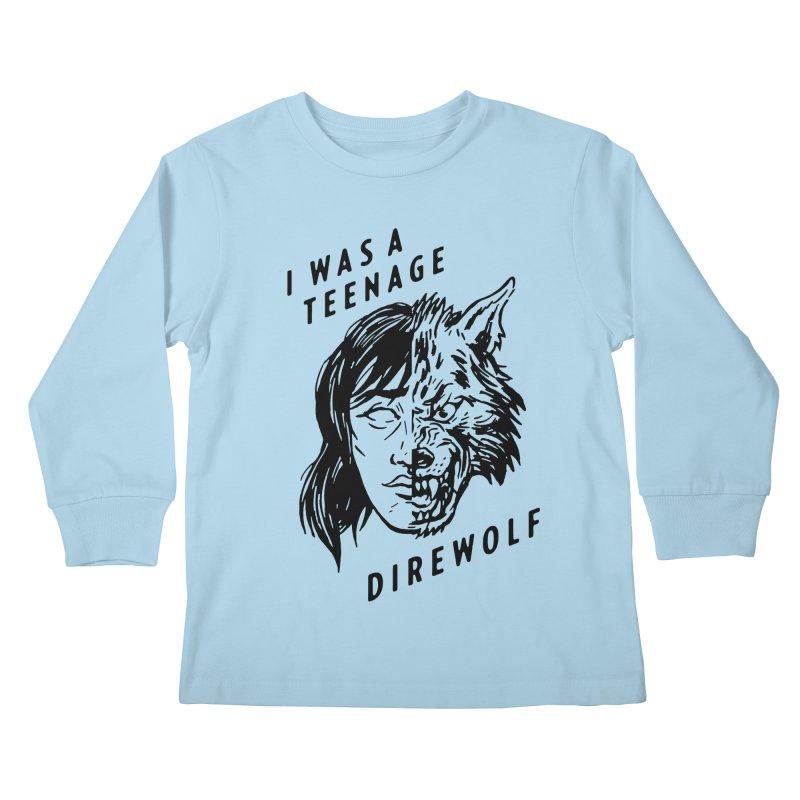 I Was A Teenage Direwolf Kids Longsleeve T-Shirt by Spencer Fruhling's Artist Shop