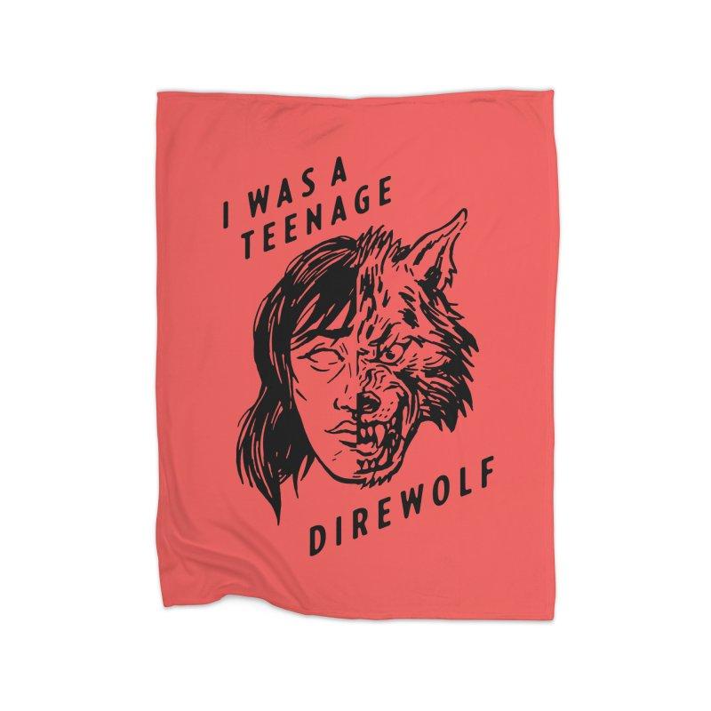 I Was A Teenage Direwolf Home Blanket by Spencer Fruhling's Artist Shop