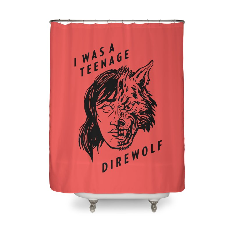 I Was A Teenage Direwolf Home Shower Curtain by Spencer Fruhling's Artist Shop