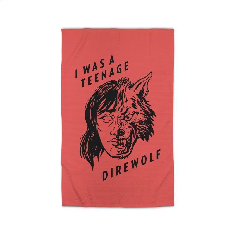 I Was A Teenage Direwolf Home Rug by Spencer Fruhling's Artist Shop