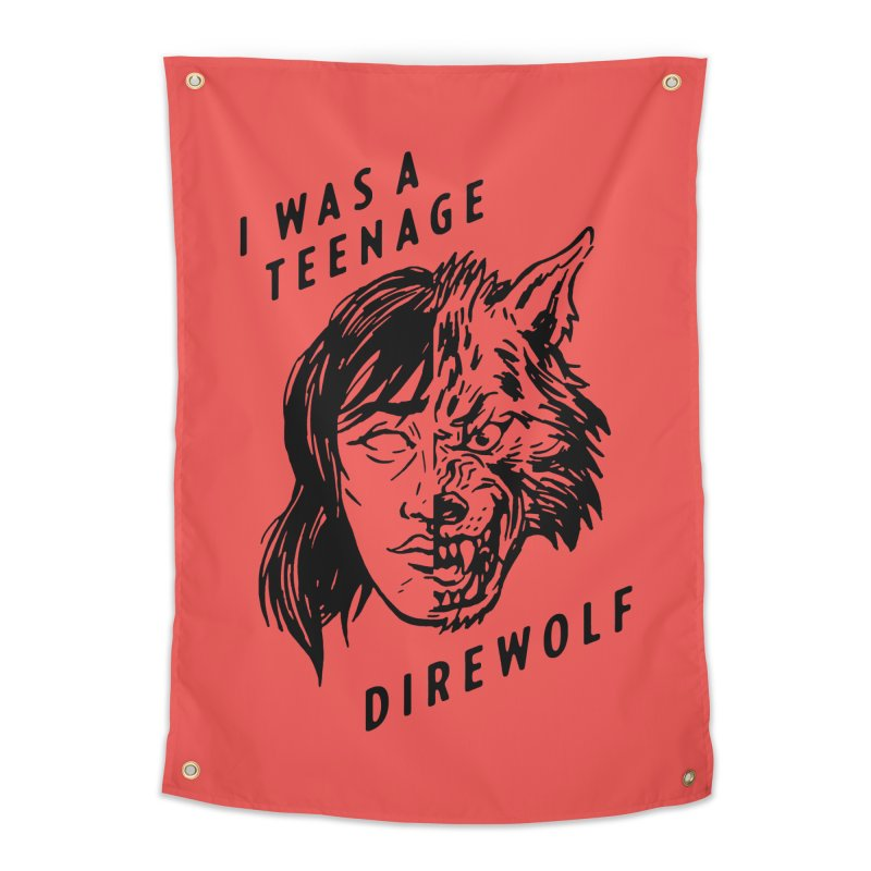 I Was A Teenage Direwolf Home Tapestry by Spencer Fruhling's Artist Shop