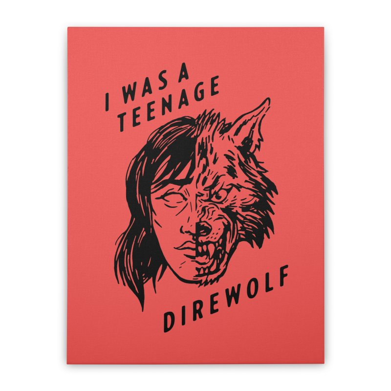 I Was A Teenage Direwolf Home Stretched Canvas by Spencer Fruhling's Artist Shop
