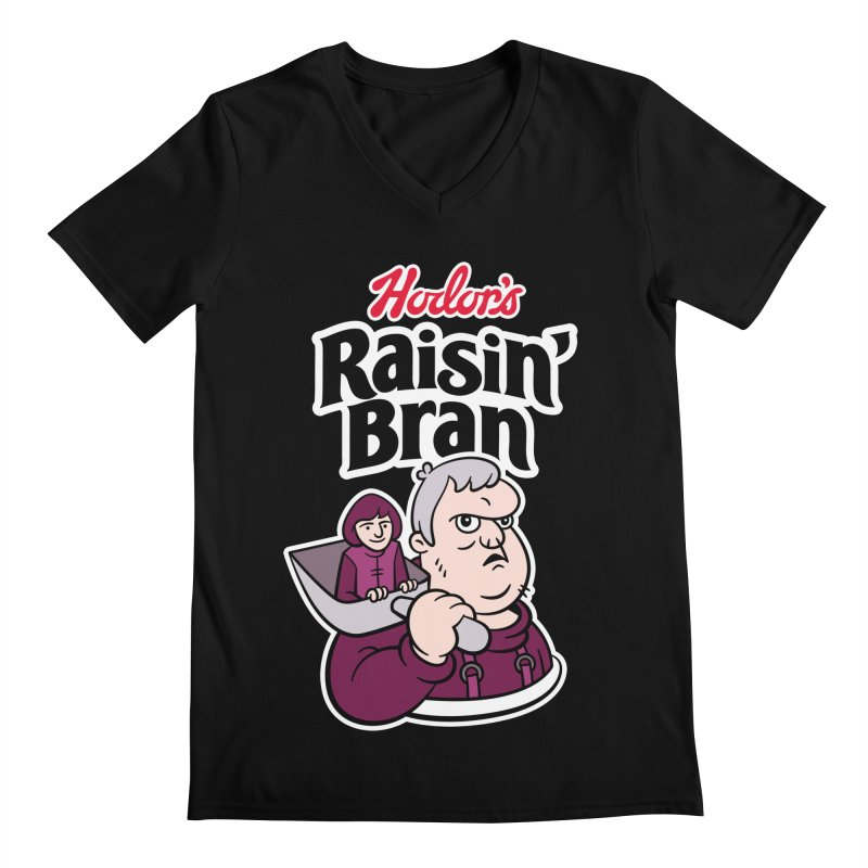 Hodor's Raisin' Bran Men's V-Neck by Spencer Fruhling's Artist Shop