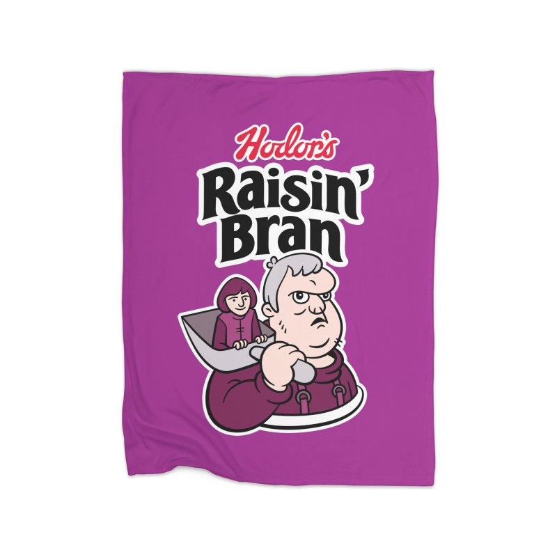 Hodor's Raisin' Bran Home Blanket by Spencer Fruhling's Artist Shop