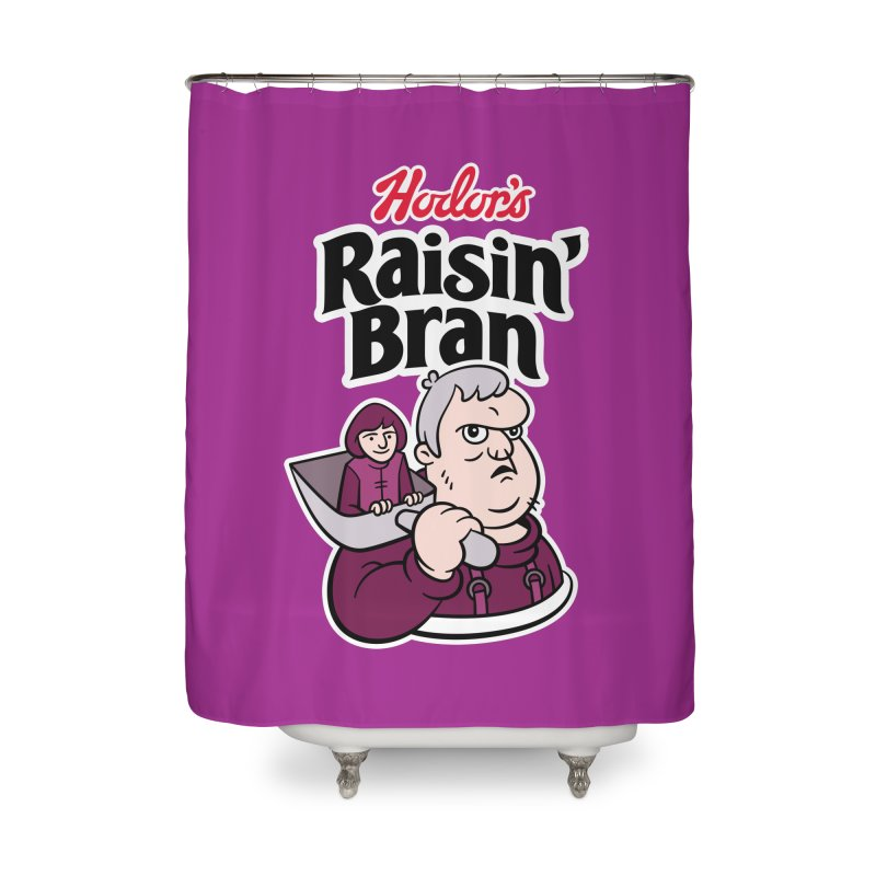 Hodor's Raisin' Bran Home Shower Curtain by Spencer Fruhling's Artist Shop