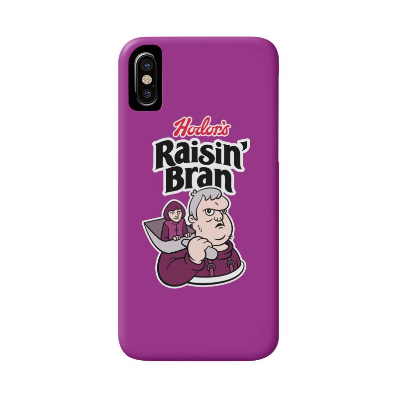 Hodor's Raisin' Bran Accessories Phone Case by Spencer Fruhling's Artist Shop
