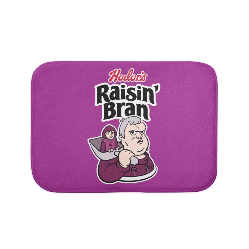 Hodor's Raisin' Bran Home Bath Mat by Spencer Fruhling's Artist Shop