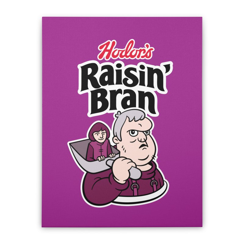 Hodor's Raisin' Bran Home Stretched Canvas by Spencer Fruhling's Artist Shop