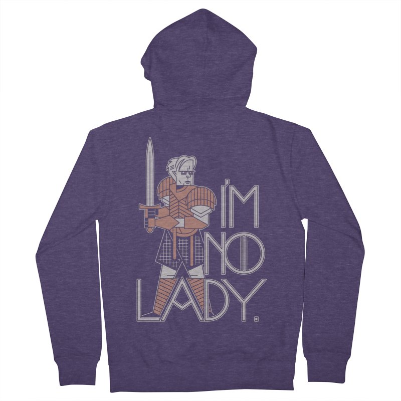 I'm No Lady Men's Zip-Up Hoody by Spencer Fruhling's Artist Shop