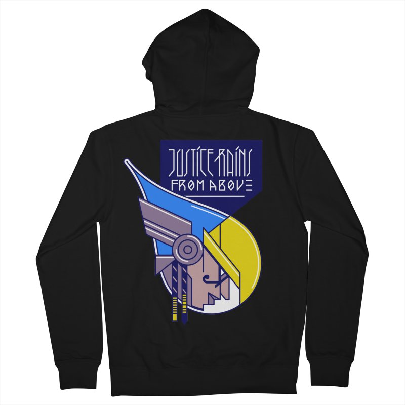Justice Rains From Above Men's Zip-Up Hoody by Spencer Fruhling's Artist Shop