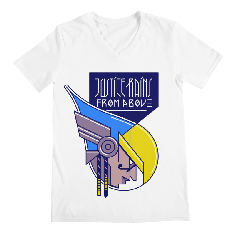 Justice Rains From Above Men's V-Neck by Spencer Fruhling's Artist Shop