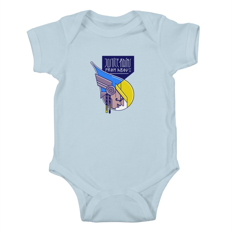 Justice Rains From Above Kids Baby Bodysuit by Spencer Fruhling's Artist Shop