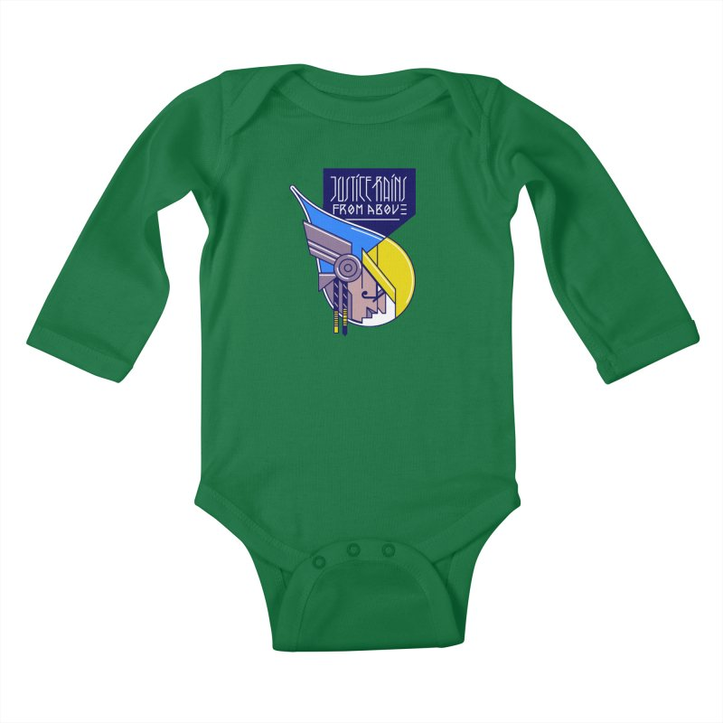 Justice Rains From Above Kids Baby Longsleeve Bodysuit by Spencer Fruhling's Artist Shop