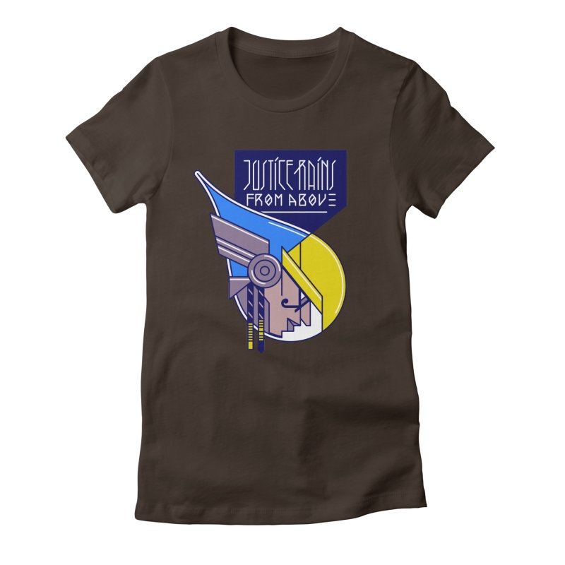 Justice Rains From Above Women's Fitted T-Shirt by Spencer Fruhling's Artist Shop