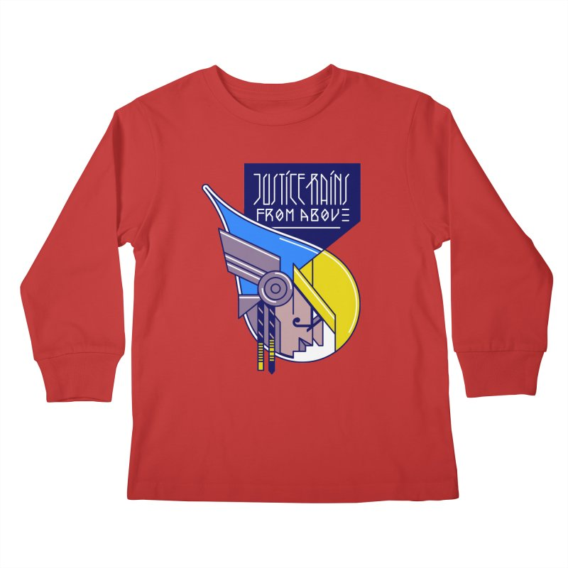 Justice Rains From Above Kids Longsleeve T-Shirt by Spencer Fruhling's Artist Shop