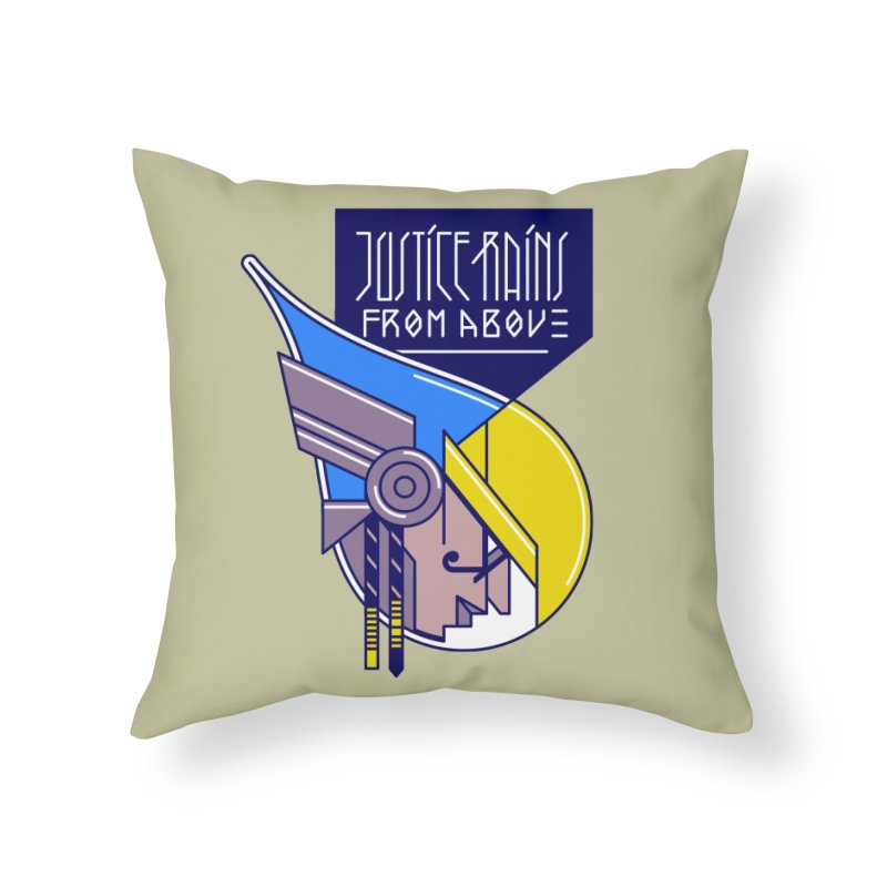 Justice Rains From Above Home Throw Pillow by Spencer Fruhling's Artist Shop