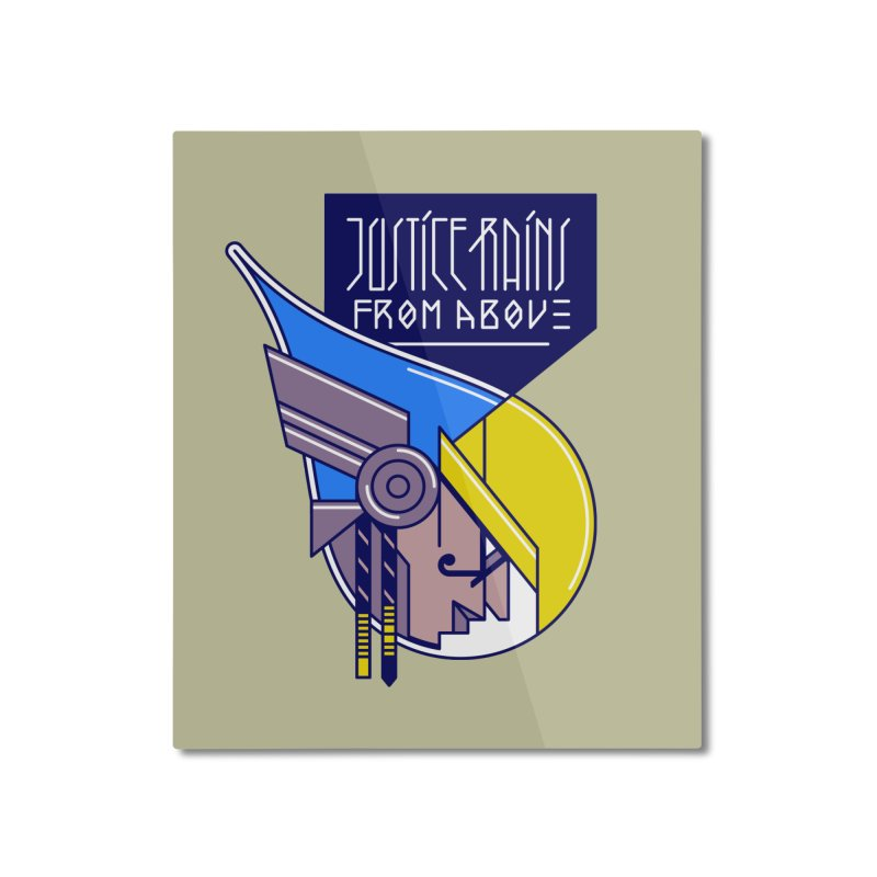 Justice Rains From Above Home Mounted Aluminum Print by Spencer Fruhling's Artist Shop