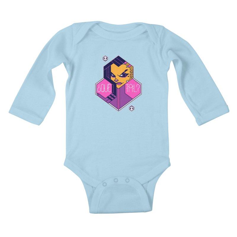 ¿Qué Tal? Kids Baby Longsleeve Bodysuit by Spencer Fruhling's Artist Shop