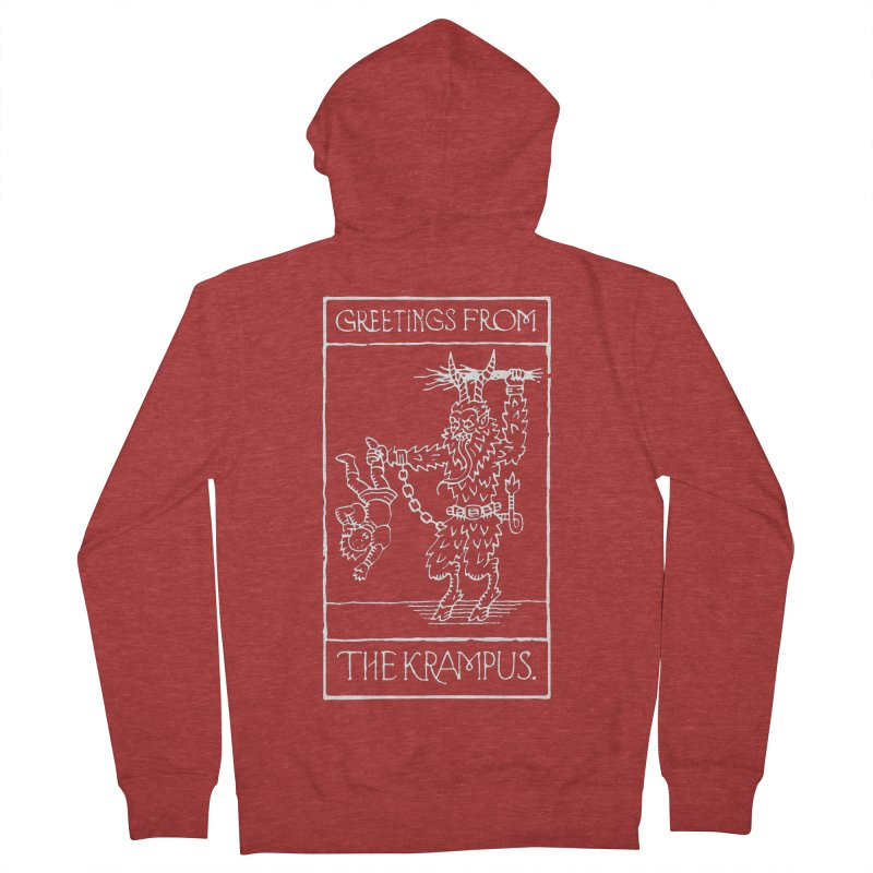 Greetings from the Krampus Men's Zip-Up Hoody by Spencer Fruhling's Artist Shop