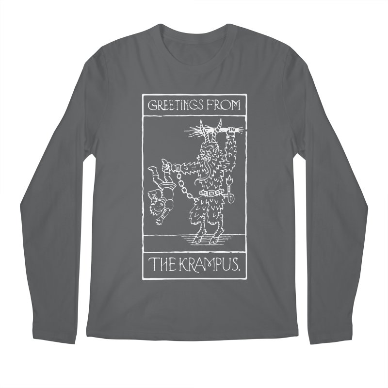 Greetings from the Krampus Men's Longsleeve T-Shirt by Spencer Fruhling's Artist Shop