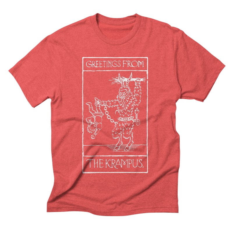 Greetings from the Krampus Men's Triblend T-Shirt by Spencer Fruhling's Artist Shop