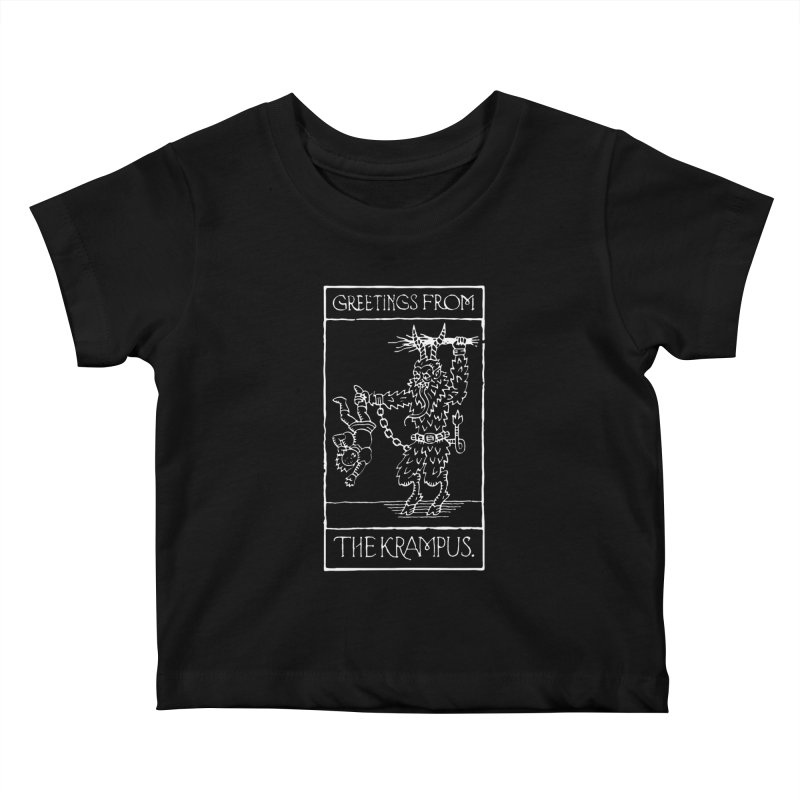 Greetings from the Krampus Kids Baby T-Shirt by Spencer Fruhling's Artist Shop