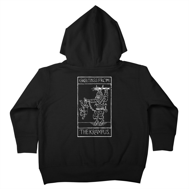 Greetings from the Krampus Kids Toddler Zip-Up Hoody by Spencer Fruhling's Artist Shop