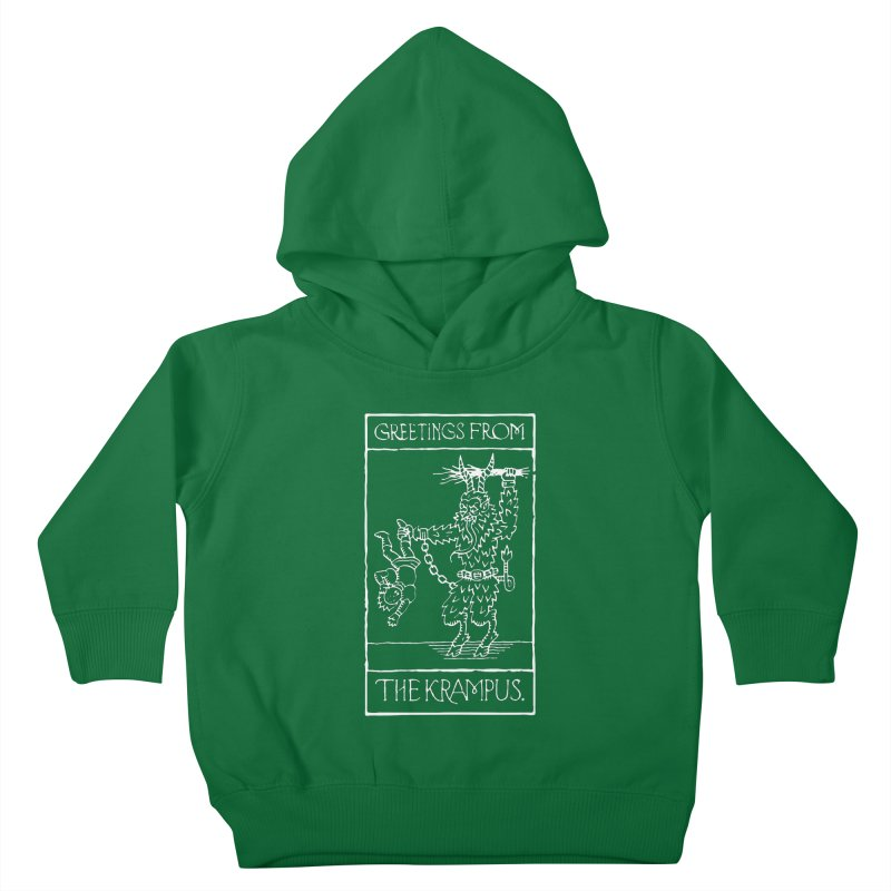 Greetings from the Krampus Kids Toddler Pullover Hoody by Spencer Fruhling's Artist Shop