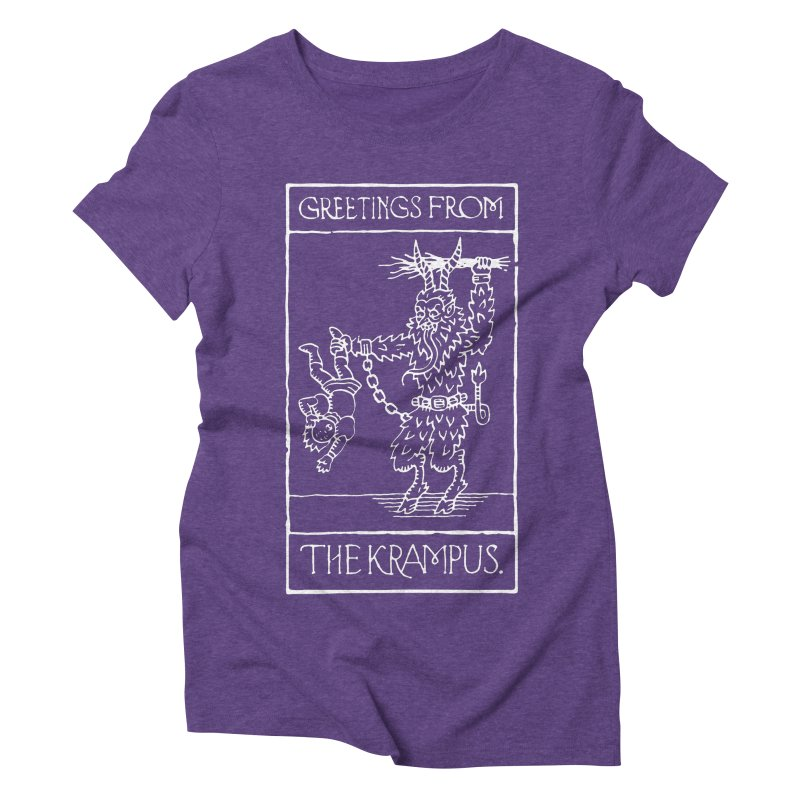 Greetings from the Krampus Women's Triblend T-Shirt by Spencer Fruhling's Artist Shop