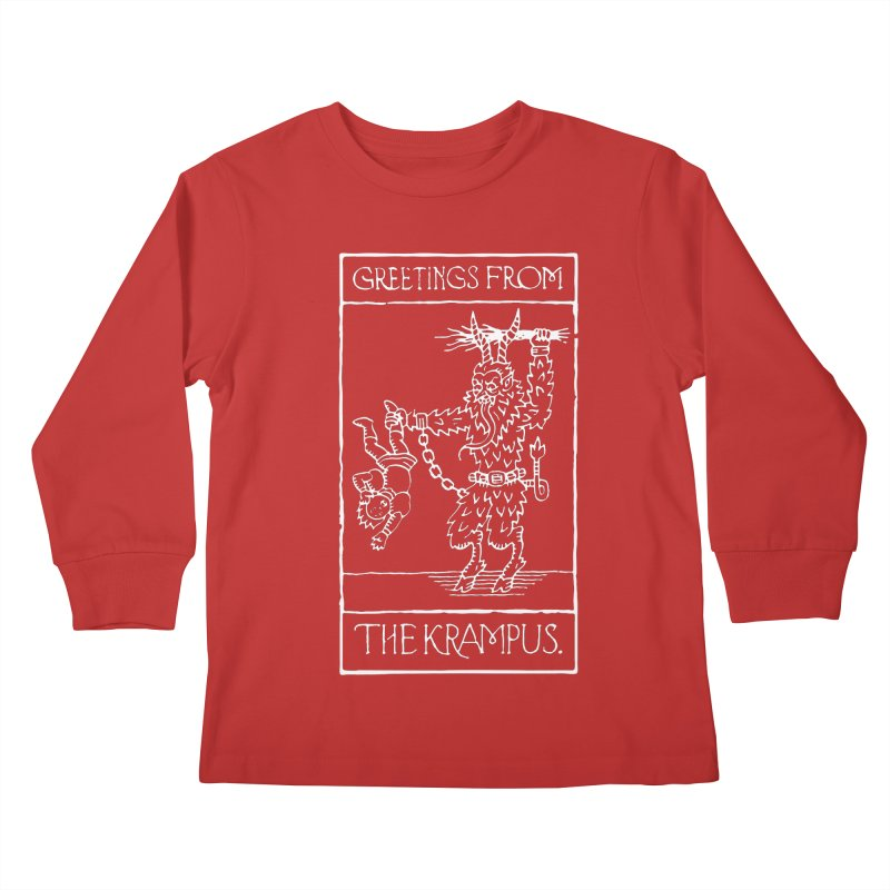 Greetings from the Krampus Kids Longsleeve T-Shirt by Spencer Fruhling's Artist Shop