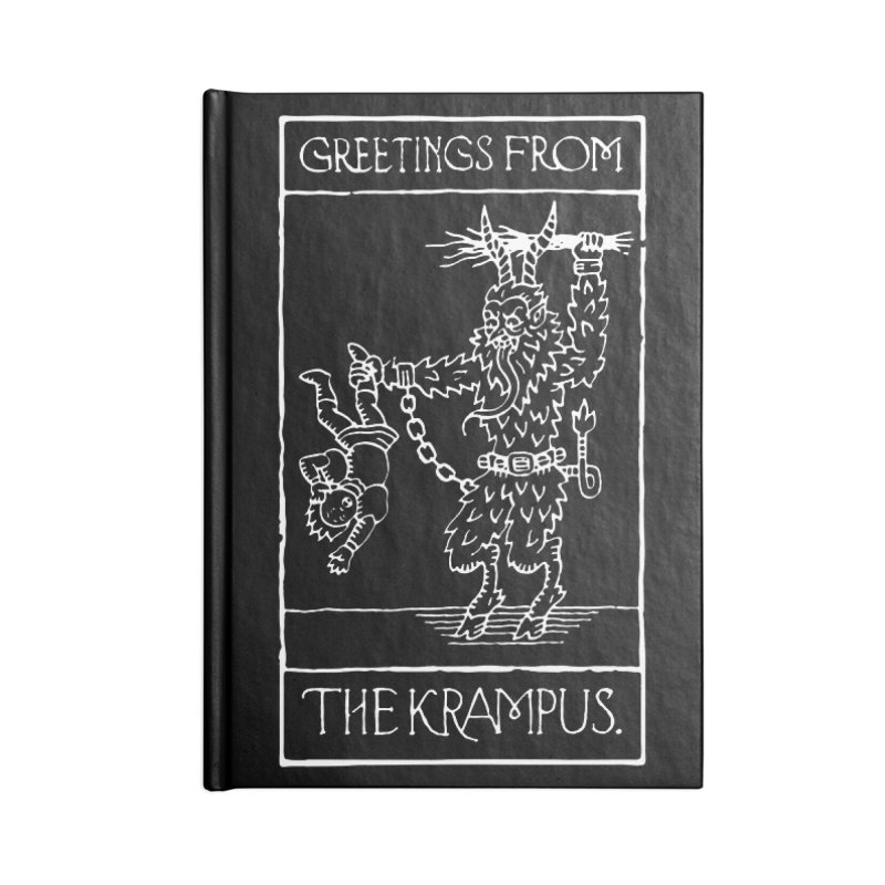 Greetings from the Krampus Accessories Notebook by Spencer Fruhling's Artist Shop