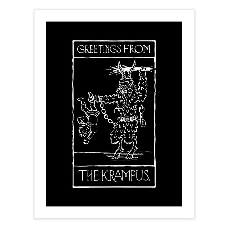 Greetings from the Krampus Home Fine Art Print by Spencer Fruhling's Artist Shop