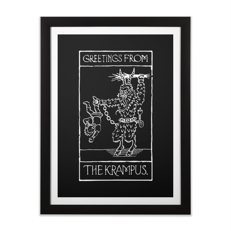 Greetings from the Krampus Home Framed Fine Art Print by Spencer Fruhling's Artist Shop