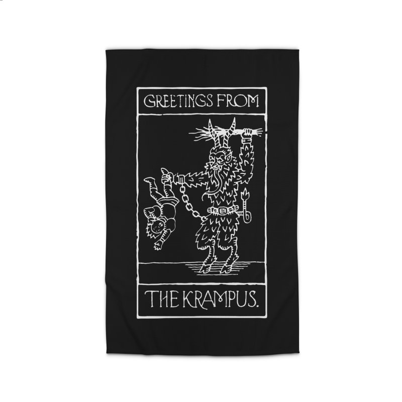 Greetings from the Krampus Home Rug by Spencer Fruhling's Artist Shop