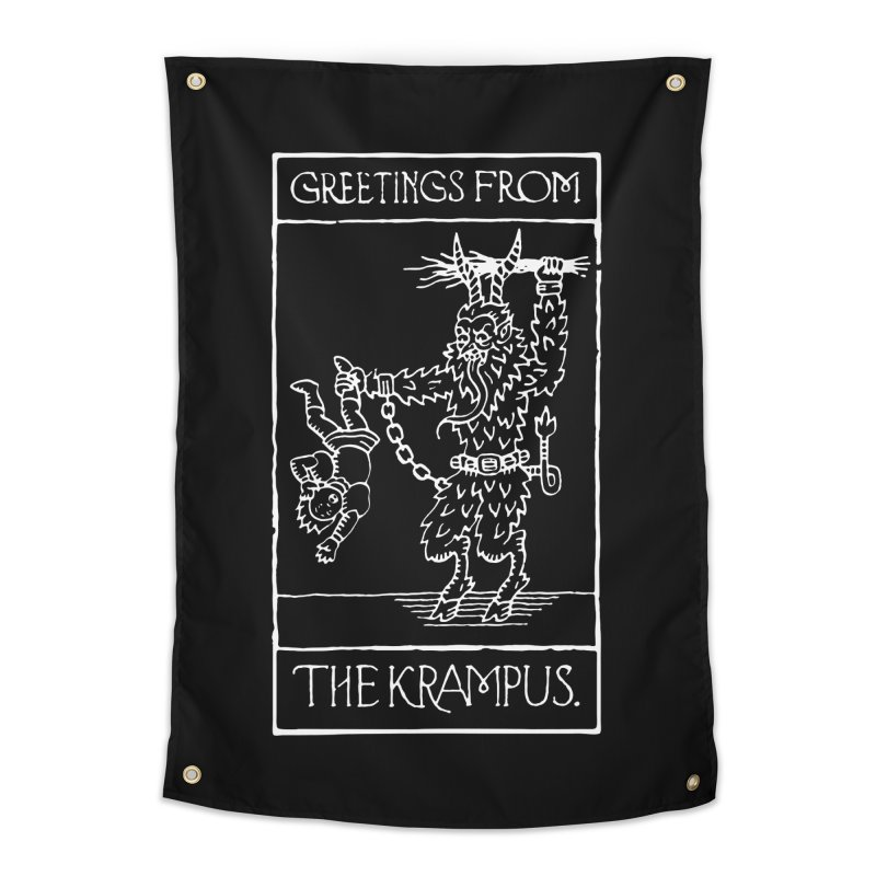 Greetings from the Krampus Home Tapestry by Spencer Fruhling's Artist Shop