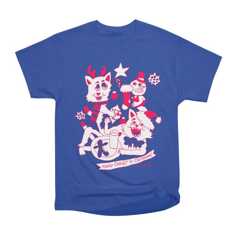 Catfriend Chrismas Lovers Women's Classic Unisex T-Shirt by Spencer Fruhling's Artist Shop