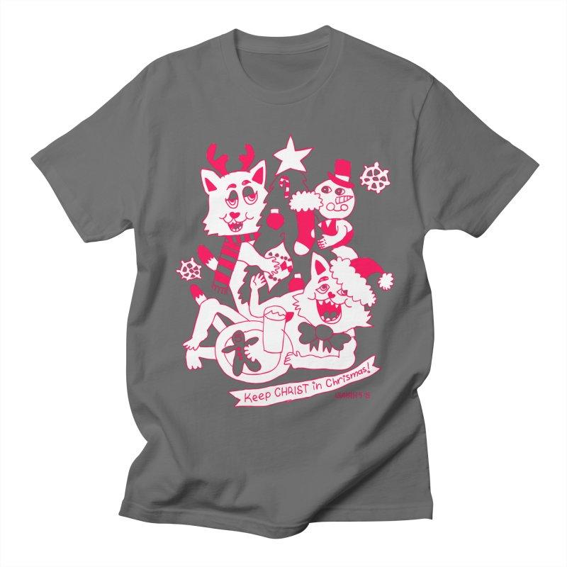 Catfriend Chrismas Lovers Men's T-Shirt by Spencer Fruhling's Artist Shop