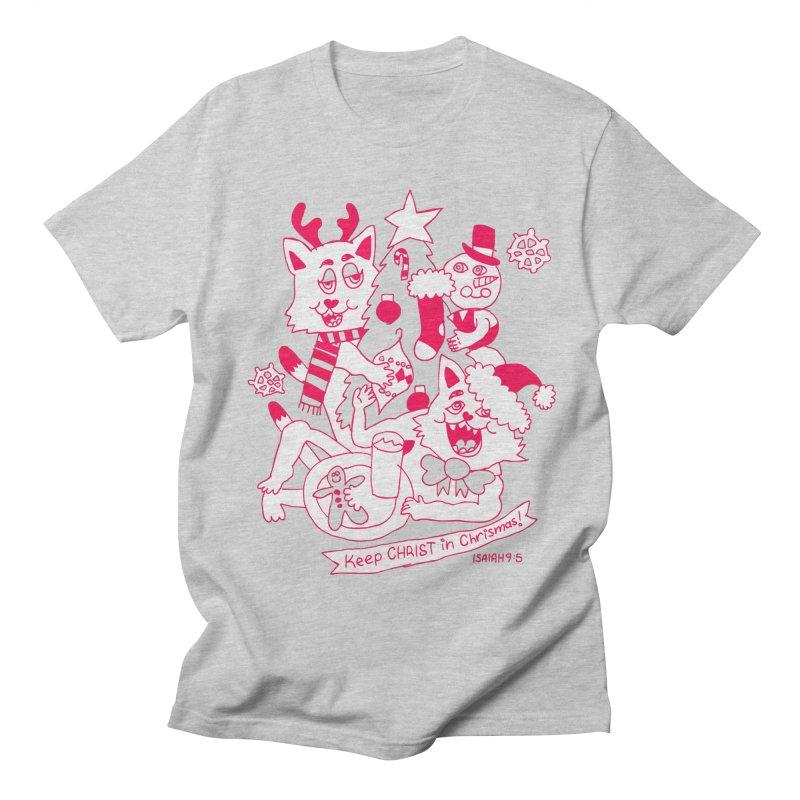 Catfriend Chrismas Lovers Women's Unisex T-Shirt by Spencer Fruhling's Artist Shop