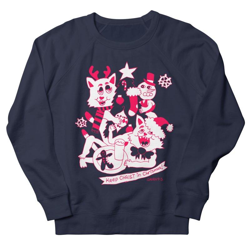 Catfriend Chrismas Lovers Men's Sweatshirt by Spencer Fruhling's Artist Shop