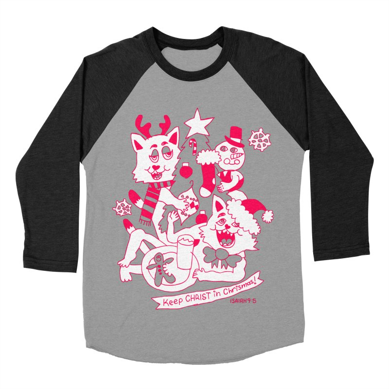 Catfriend Chrismas Lovers Women's Baseball Triblend T-Shirt by Spencer Fruhling's Artist Shop