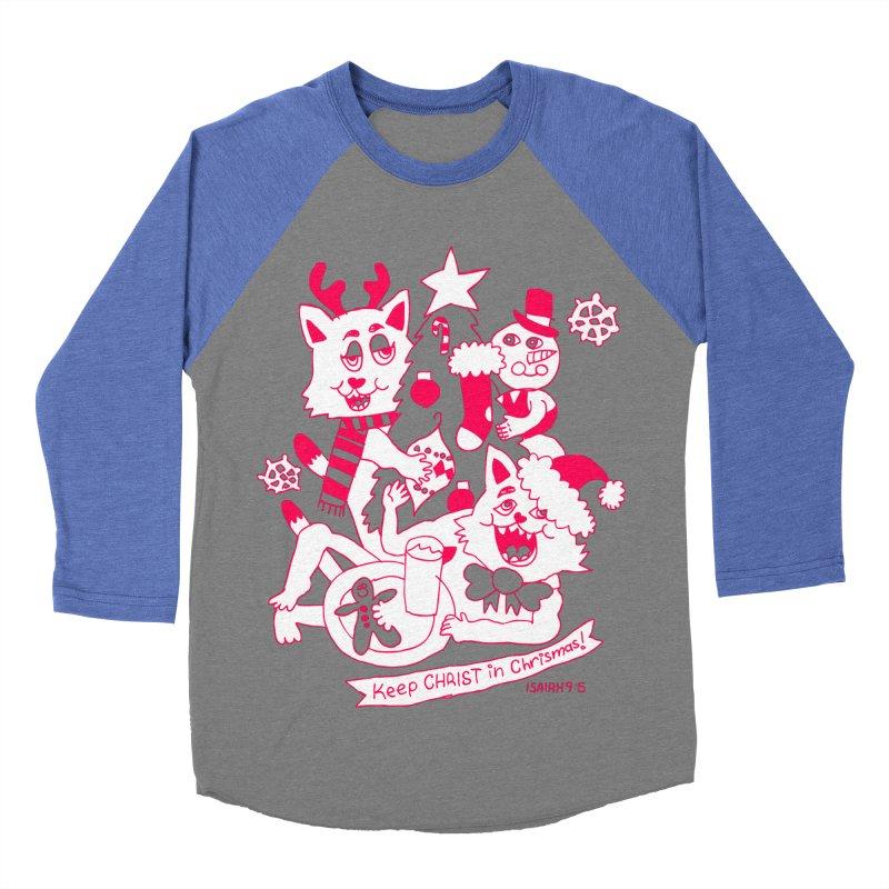 Catfriend Chrismas Lovers Men's Baseball Triblend T-Shirt by Spencer Fruhling's Artist Shop
