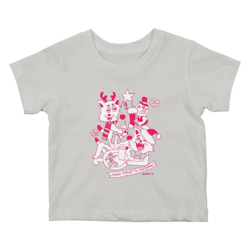 Catfriend Chrismas Lovers Kids Baby T-Shirt by Spencer Fruhling's Artist Shop