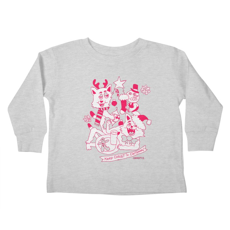 Catfriend Chrismas Lovers Kids Toddler Longsleeve T-Shirt by Spencer Fruhling's Artist Shop