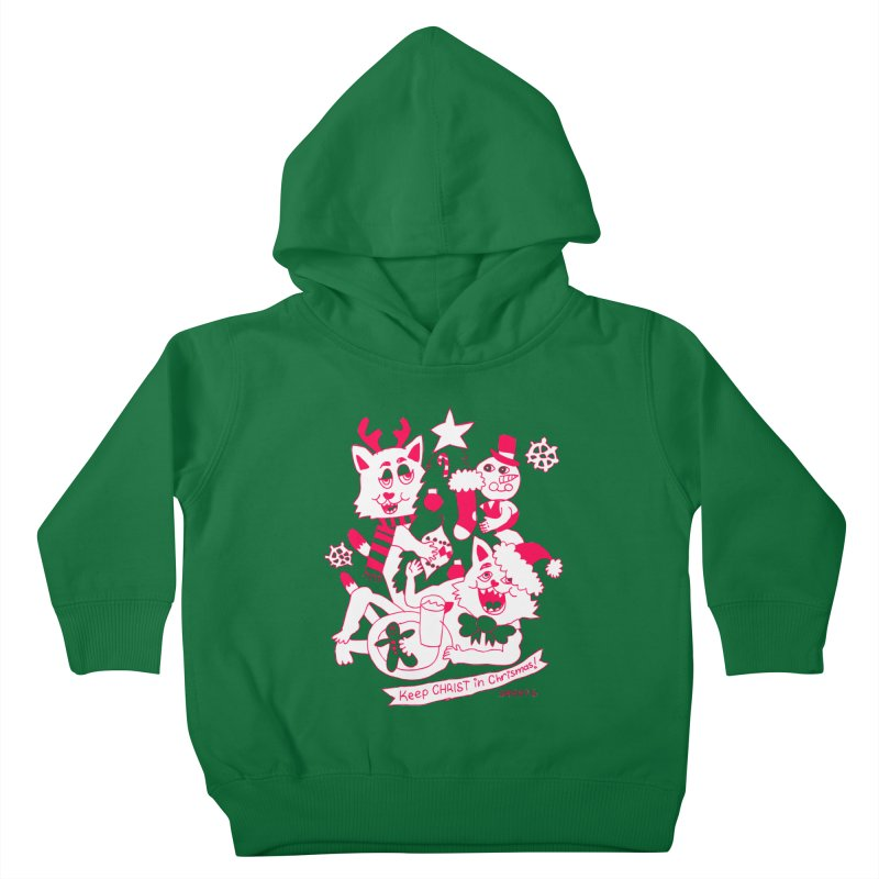 Catfriend Chrismas Lovers Kids Toddler Pullover Hoody by Spencer Fruhling's Artist Shop