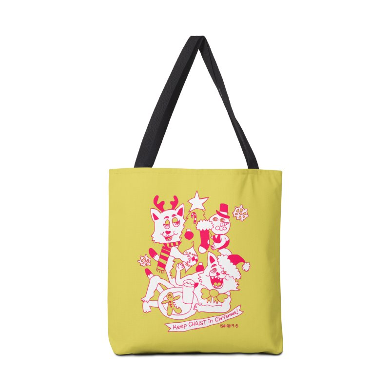 Catfriend Chrismas Lovers Accessories Bag by Spencer Fruhling's Artist Shop